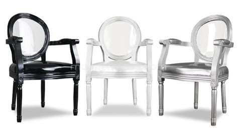 chaise baroque avec accoudoir fauteuil médaillon avec dossier plexi transparent et