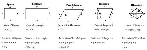 area  quadrilateral  pictures grade
