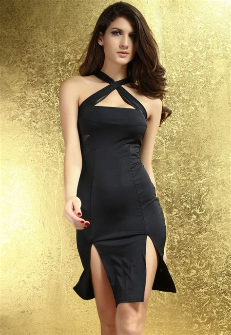 Women Sleeveless Black Sexy Maxi Dress With Split Online