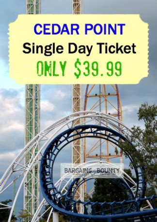 cedar point ticket sale    day admission