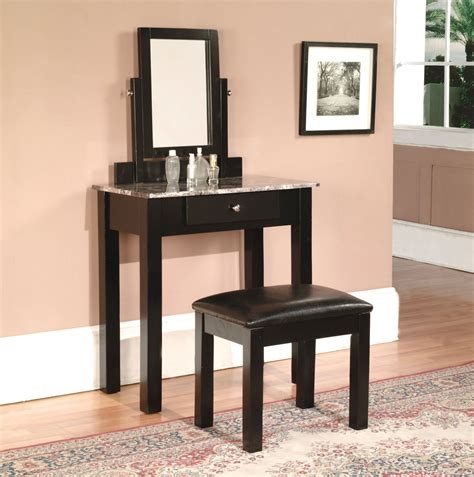 Black Bedroom Vanity Set by Black Vanity Set Completing Cozy Interior Space Traba Homes