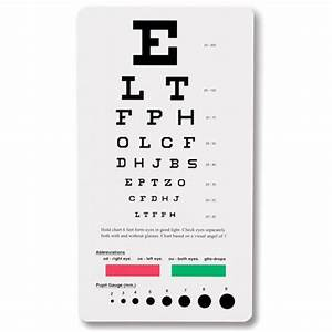 Pocket Snellen Eye Chart 3909