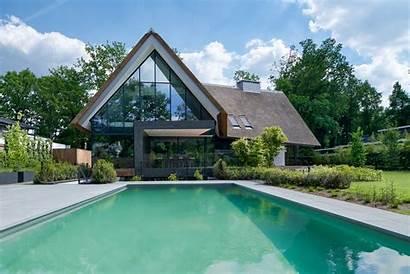 Villa Bos Nieuwbouw Rietgedekte Buitenverblijf Woning Ms