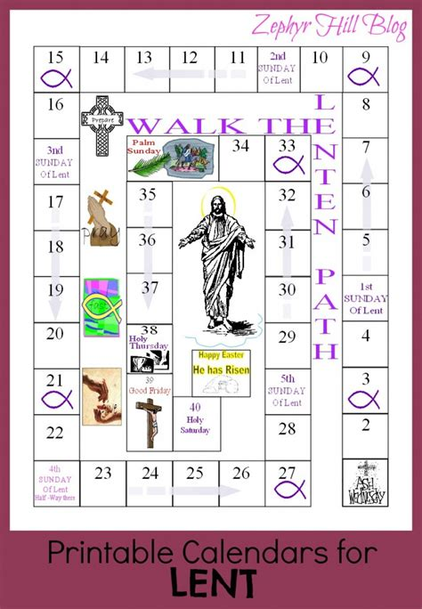 printable lenten calendars for children zephyr hill 345 | lentcalendar 709x1024
