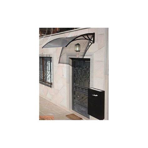 Durvju jumtiņš (6x960x1500 mm) caurspīdīgs, melni turētāji ...