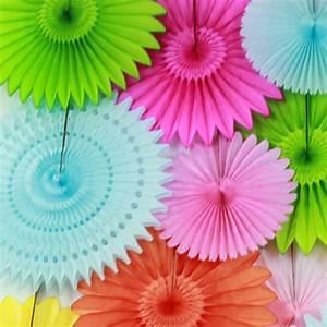 "Hot Sale 12"" Red Pinwheel Paper Flower Fans Birthday Stage"