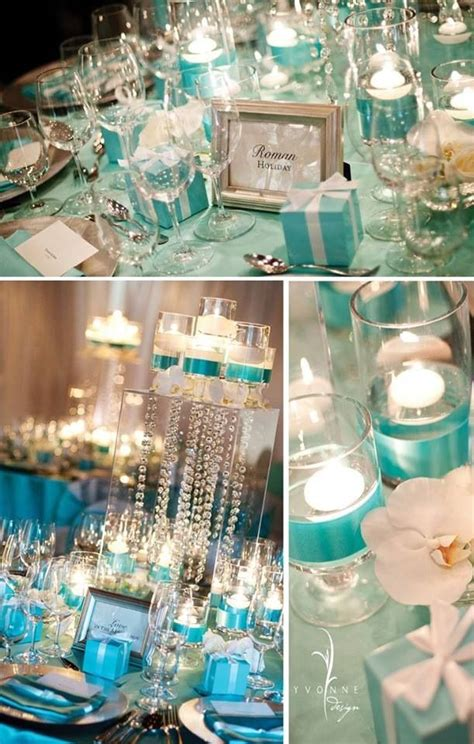 tiffany blue table decorations wedding centerpieces tiffany blue wedding