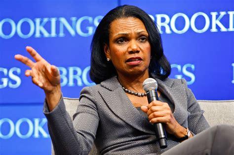 rice condi condoleezza clinton hillary blames meddling flips election script russian