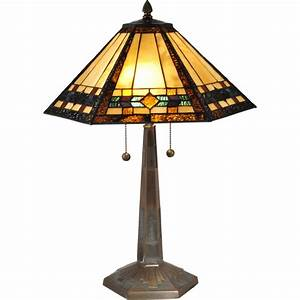 Dale tiffany ginger diamond mission style table lamp table for F k a table lamp
