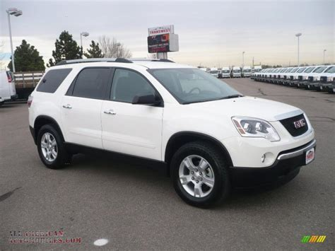 gmc acadia sle awd  summit white