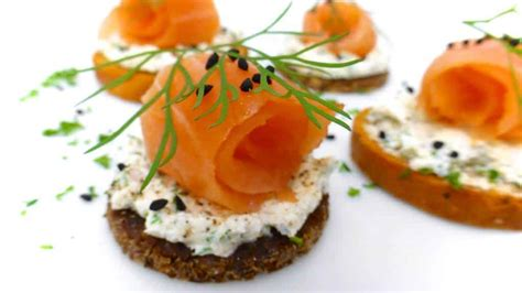 canape s smoked salmon canapes with cheese simple tasty