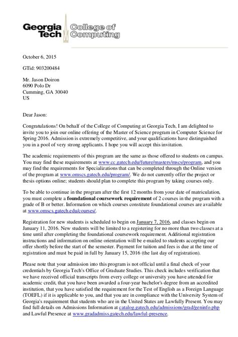 whats in a cover letter admission letter 29775
