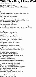 bluegrass songs with chords with this ring i thee wed With with this ring i thee wed
