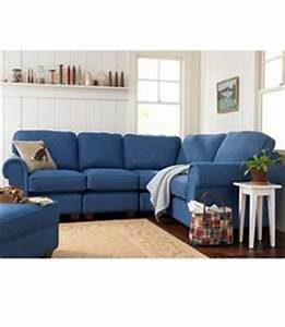 1000 images about denim couch on pinterest denim couch for Red denim sectional sofa