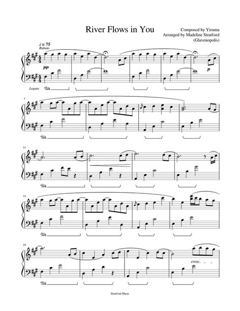 Download and print in pdf or midi free sheet music for river flows in you by yiruma arranged by arnavamit for piano (solo). River Flows in You - Yiruma - Piano Solo Sheet music for Piano (Solo) | Musescore.com