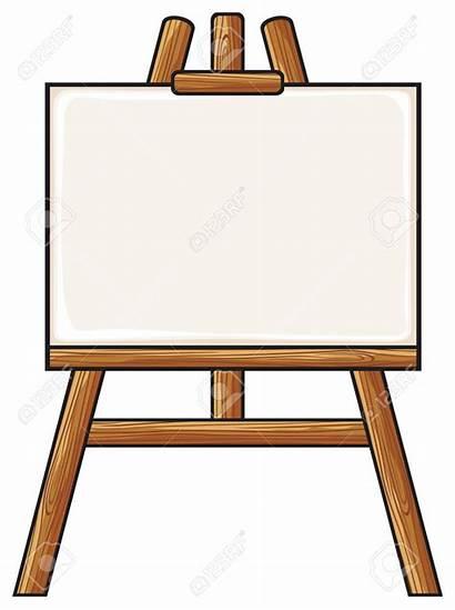 Easel Clipart Clip Canvas Board Artist Blank
