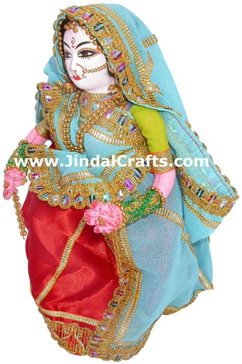 handmade traditional costume doll india haryana lady