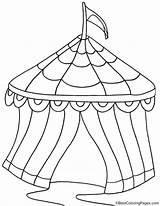 Tent Circus Coloring Ausmalbilder Zirkuszelt Kostenlose Kleines Zirkus Ausdrucken Ausmalen Zum Ausmalbild Malvorlagen Printable Drawing Luftballons Fuer Bestcoloringpages Camping Malboegen sketch template