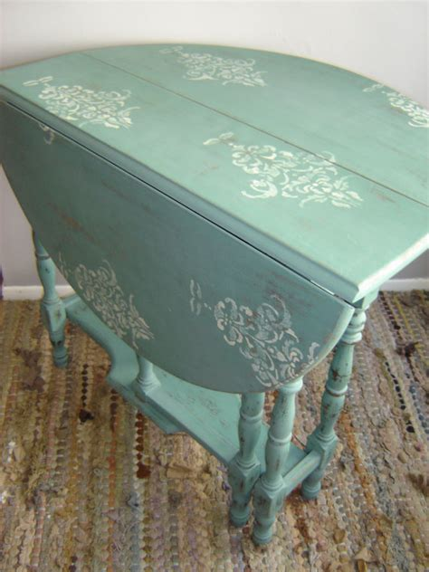 antique gate leg drop leaf table shabby  vintageideology