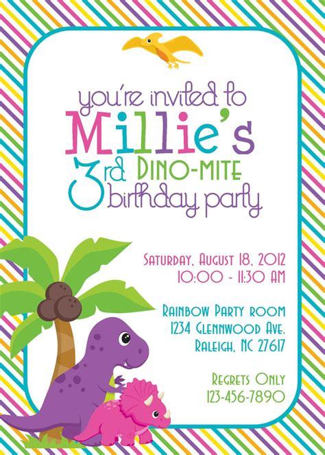 homemade dinosaur invitations