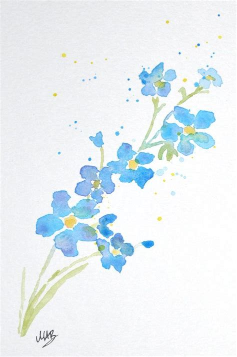 sale   watercolor forget   flower