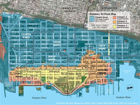 New Hoboken Flood Map With Water Levels Post Hurricane