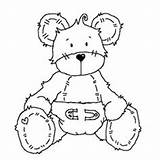 Coloring Diaper Bear Surprise Month Mid Uncolored Challenges Template Bears Digi Roger Printables Stamps Dibujos Magnolia Clipart Printable Fofos Ositos sketch template