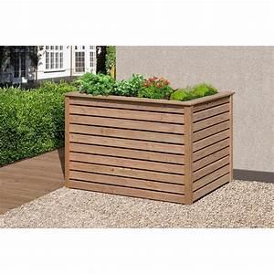 Hochbeet 125x85x80 aus holz larche krauterbeet for Garten planen mit balkon sichtschutz 80 cm höhe