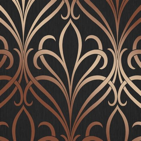 henderson interiors camden damask wallpaper charcoal copper h980536 henderson interiors