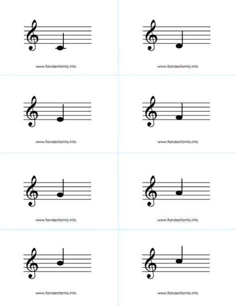 musical note flashcards for beginning piano students free