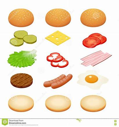Burger Ingredients Burgers Sandwiches Egg Fried Onions