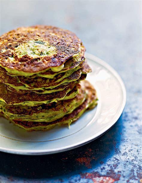 recette de cuisine courgette pancakes de courgettes et ricotta à la menthe pour 4