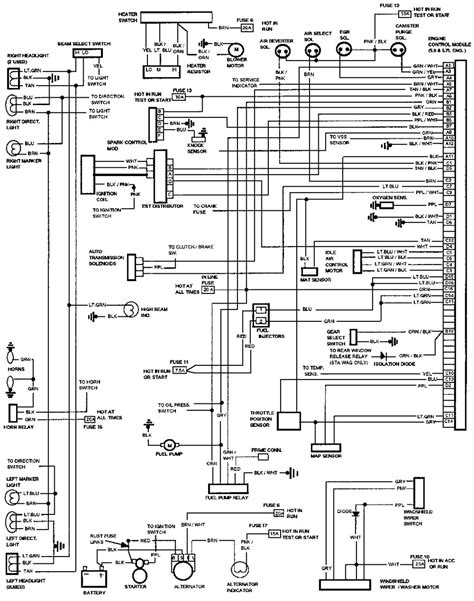 Ac Wiring Diagram 97 Dodge Ram Up by электросхемы Chevrolet Caprice 1990 1994