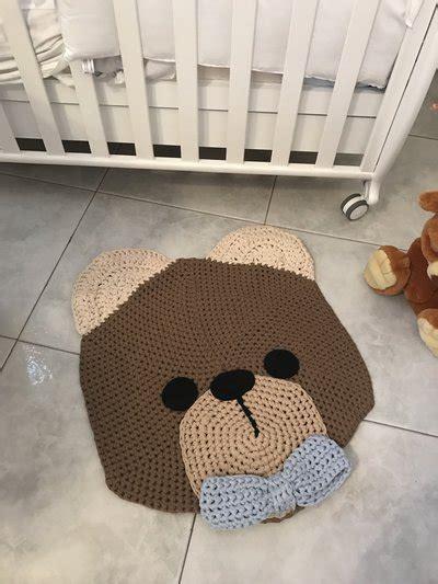 tappeto all uncinetto tappeto all uncinetto a forma di orsetto bambini