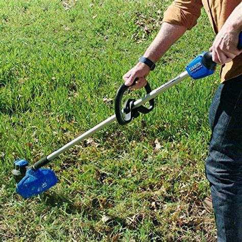 Its brushless motor located on the tail helps get a good balance to avoid overstraining and fatiguing your arm. Kobalt 24-Volt BL Leaf Blower and String Trimmer