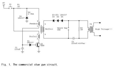 Commercial Stun Gun Circuit Schematic Electronic