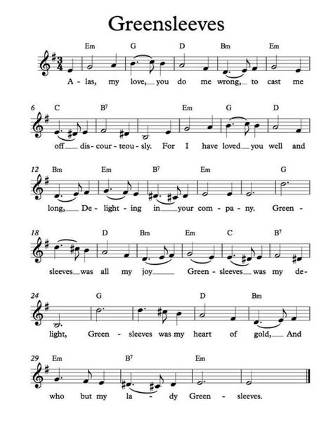 chord piano lagu all of me free sheet free lead sheet greensleeves musique chansons partitions