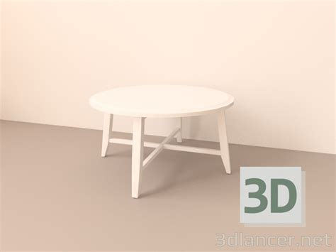 3d Model Table Ikea Kragsta In The Style Of Scandinavian