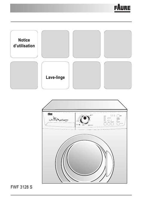 notice lave linge faure table de cuisine