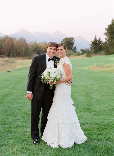formal rustic wedding  jackson hole golf  tennis