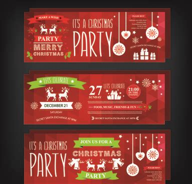 Free christmas party invitation template free vector