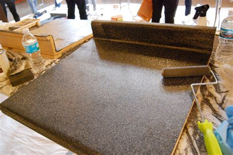 the granite look for kitchen countertops is just a spray away