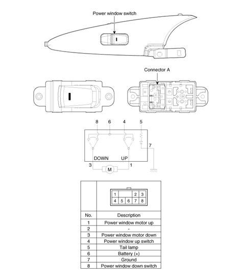 Hyundai Sonata Power Window Switch Schematic Diagrams