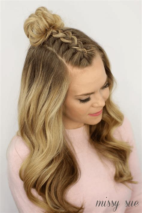 mohawk braid top knot hairstyle hair styles