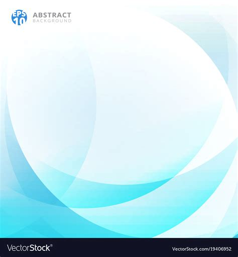 abstract light blue curve overlap background vector image