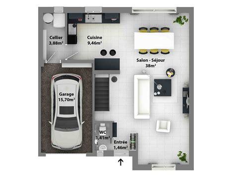plan de cuisine gratuit plan de maison moderne maison laure constructeur