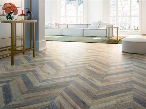 chevron pattern faux wood tile gray houses flooring