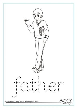 fathers day handwriting worksheets