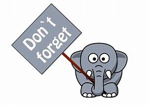 Just A Reminder Elephant Clipart