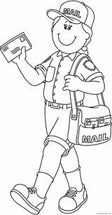 Coloring4free Helpers Coloring Community Pages Postman Related Posts sketch template
